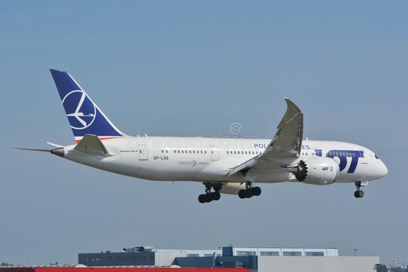 Dreamliner 787 zdjęcie stock