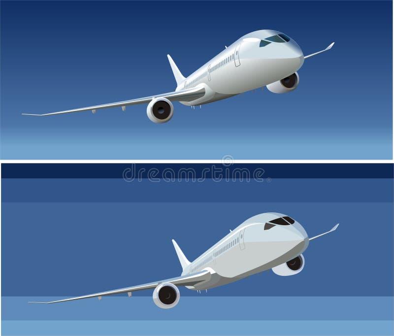 Dreamliner de passager de vecteur illustration de vecteur