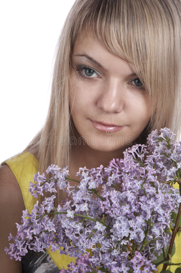 Download Dreams stock image. Image of passion, lilac, makeup, blonde - 7208125