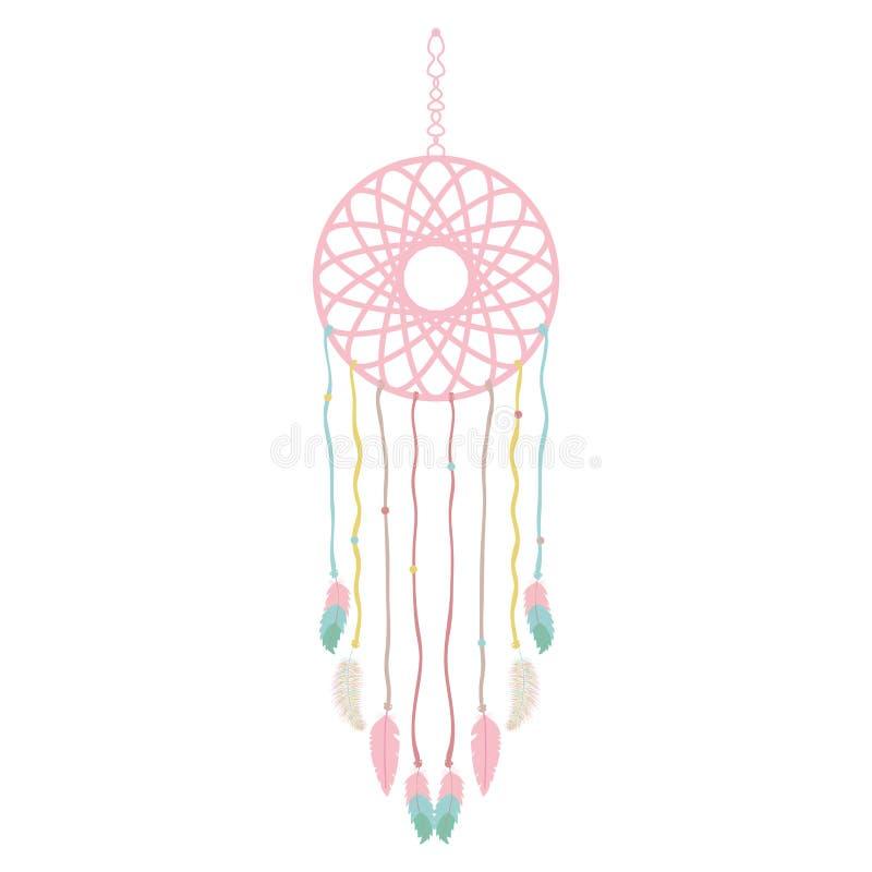 Dreams catcher hanging boho icon vector illustration
