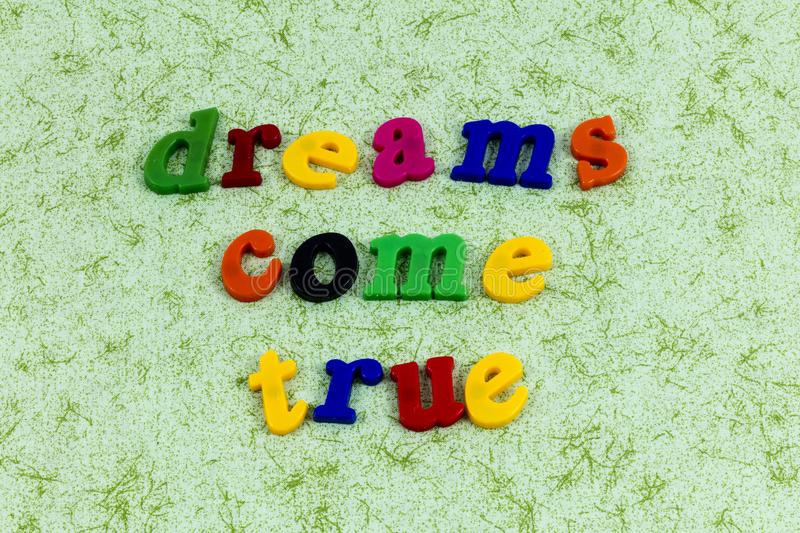 Dreams come true dreamer magic adventure leadership beautiful stock image
