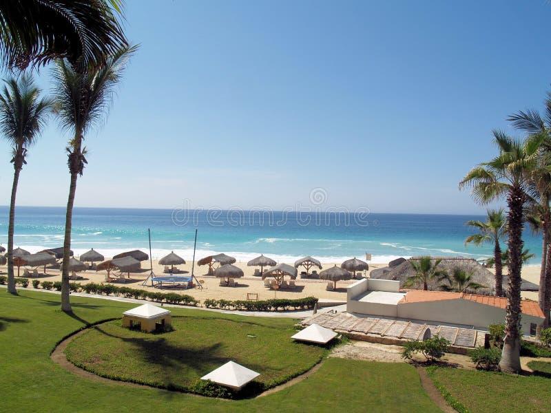 Dreams Los Cabos Suites Golf Resort and Spa in Mexico. Dreams Los Cabos Suites Golf Resort and Spa in Los Cabos, Mexico. Destination wedding at the beach royalty free stock photos