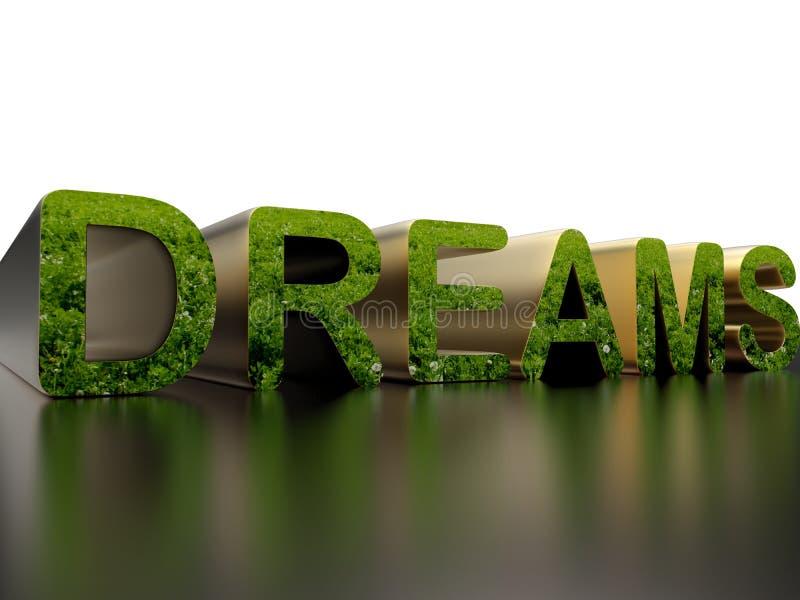 Dreams - nature concept vector illustration