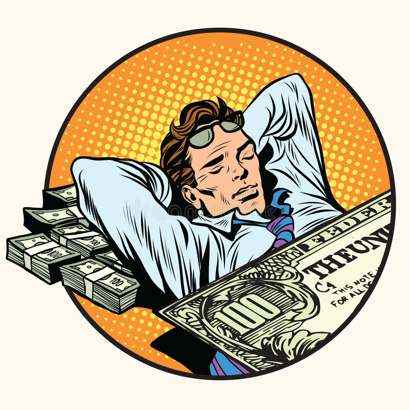 Dreams of riches business concept stock illustration