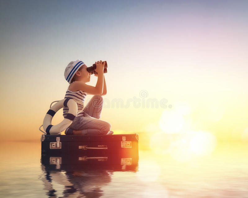 Dreams of travel royalty free stock images