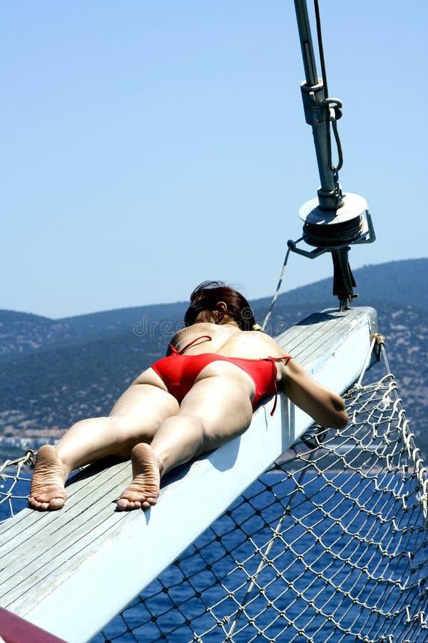 Dreams on a yacht stock photography