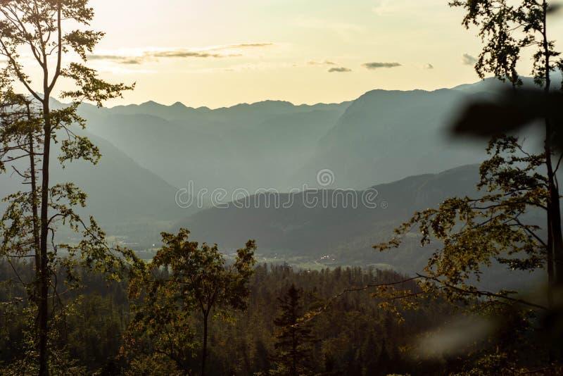 Dreamscapes гор которые мы увидели стоковое фото rf
