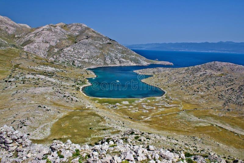 Dreamscapes di Mala Luka, isola di Krk immagini stock