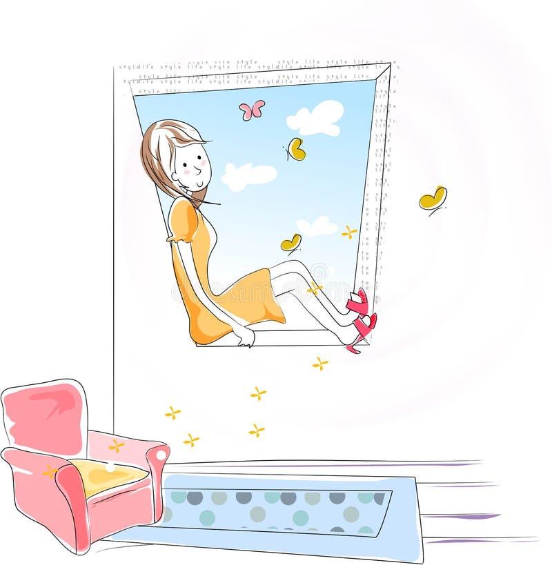 dreamseries68 royaltyfri illustrationer