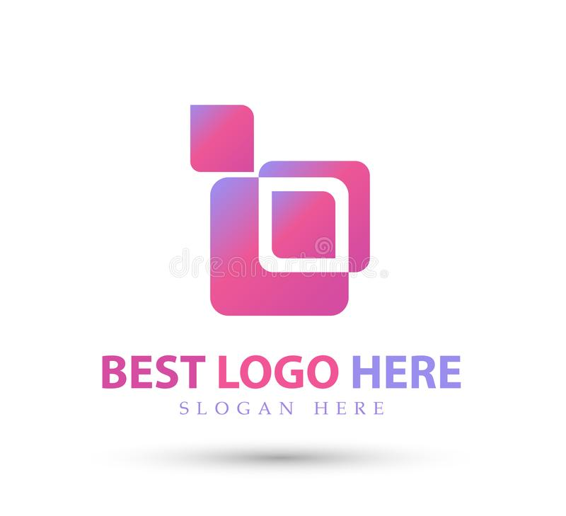 New trendy logo, Design elements part, style vector icon. Illustration stock illustration
