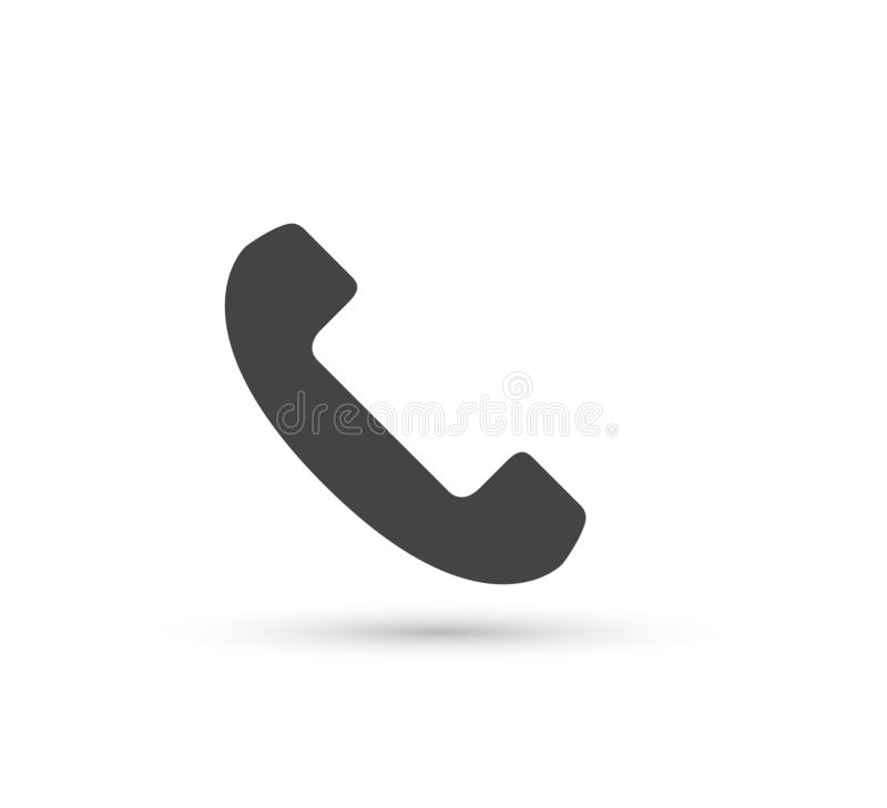 Phone vector icon vector flat style logo. Handset with shadow illustration. Easy editing of illustration. Smartphone, contact. vector illustration