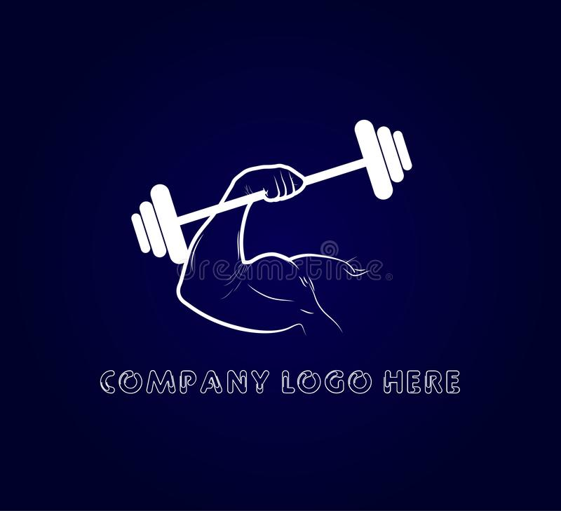 Gym fitness logo vector badge. Activity, muscle, Gym logo vector. Gym fitness logo vector badge. Activity, muscle, Gym logo vector for your company stock illustration