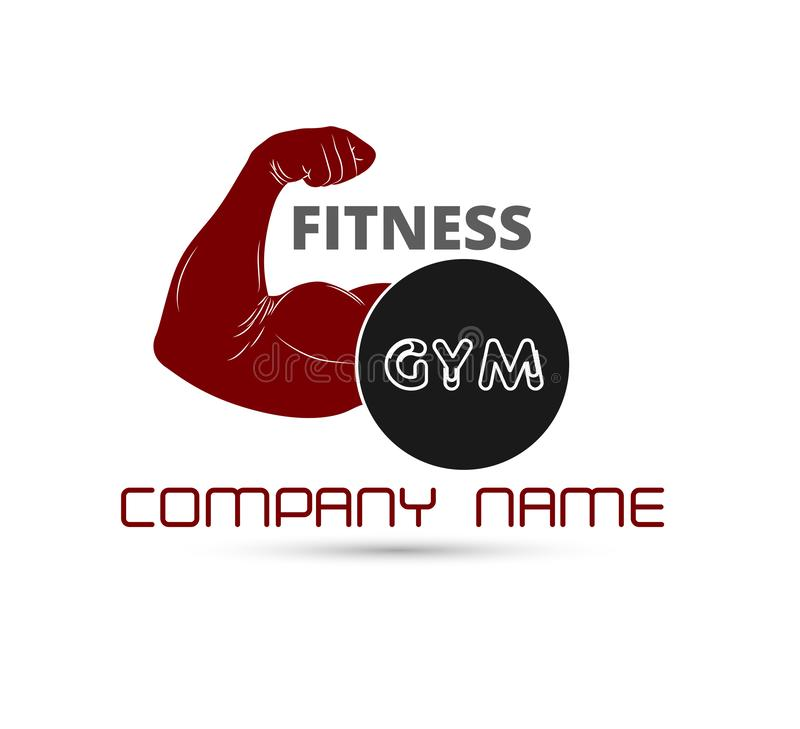 Gym fitness logo vector badge. Activity, muscle, Gym logo vector. Gym fitness logo vector badge. Activity, muscle, Gym logo vector for your company royalty free illustration