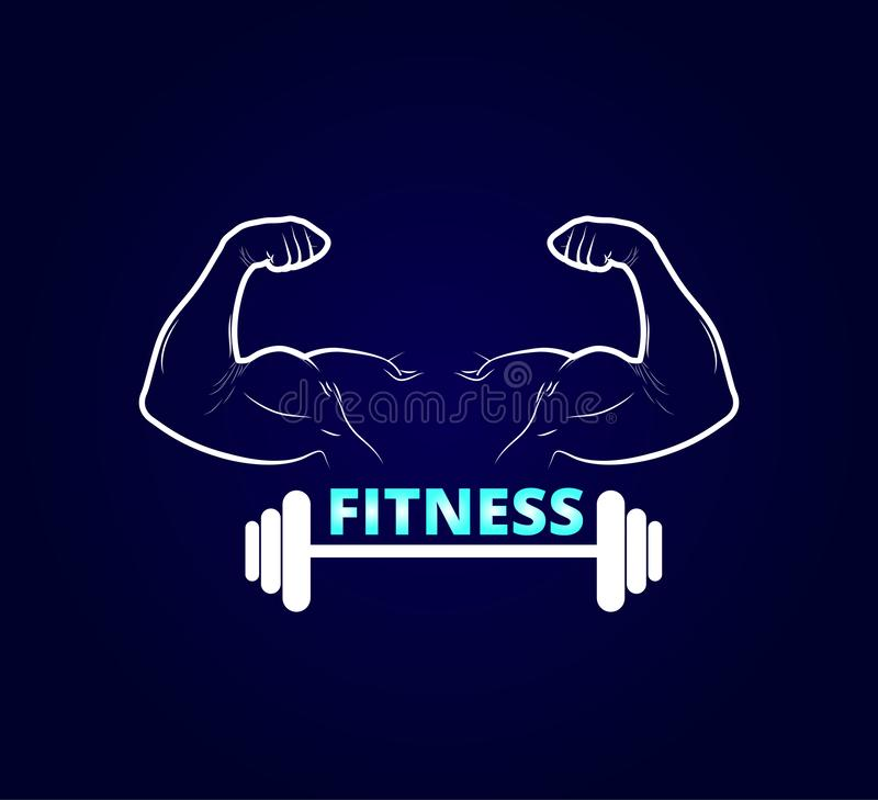 Gym fitness logo vector badge. Activity, muscle, Gym logo vector. Gym fitness logo vector badge. Activity, muscle, Gym logo vector for your company vector illustration