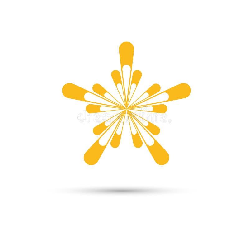 Sun ilustration vector logo, icon Isolated, light in white background. stock illustration