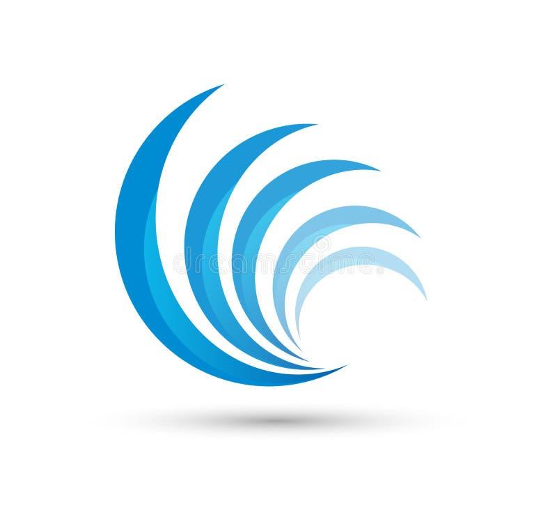 Circle swirl wave abstract logo vector vector illustration