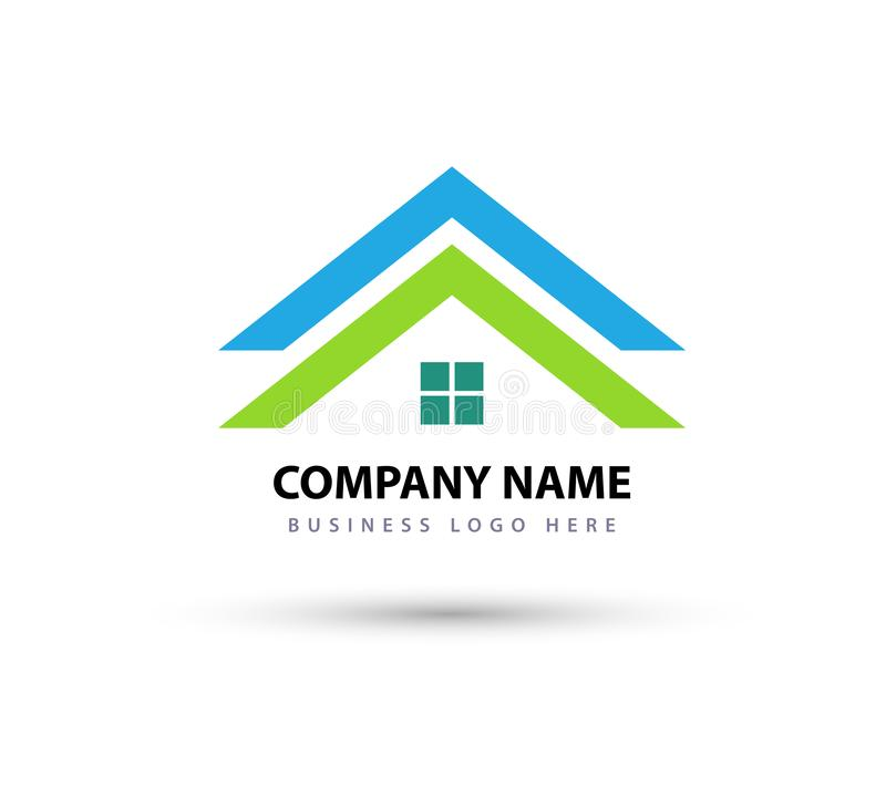 Abstract real estate House roof and home logo vector element icon business Logo, icon for your company stock illustration