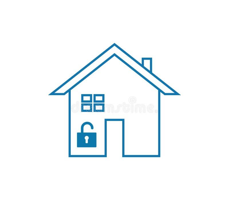 Home lock icon. stock illustration