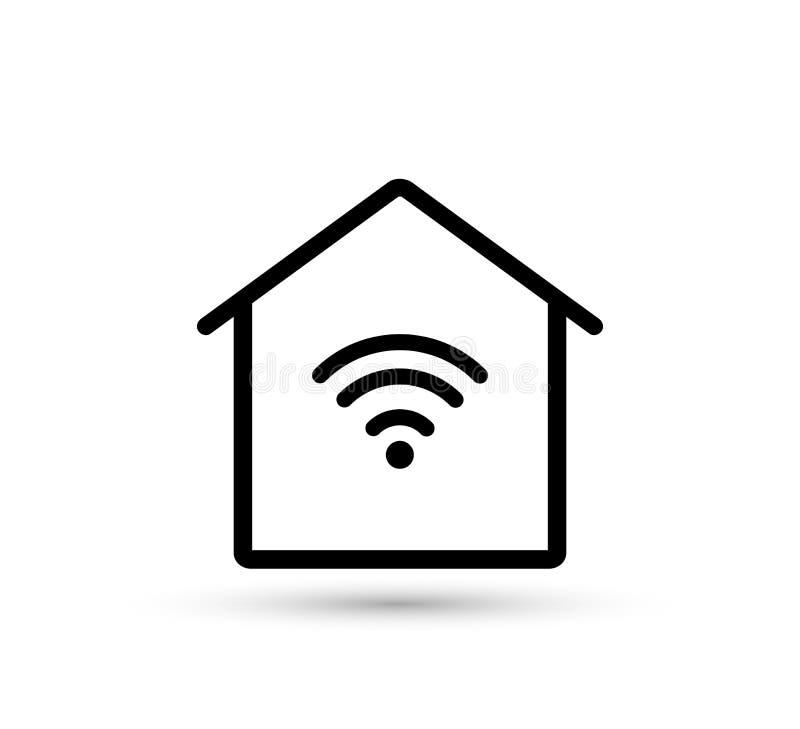 Home wifi icon. smart home. stock illustration