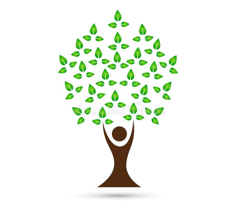 Family tree vector logo, illustration. stock illustration
