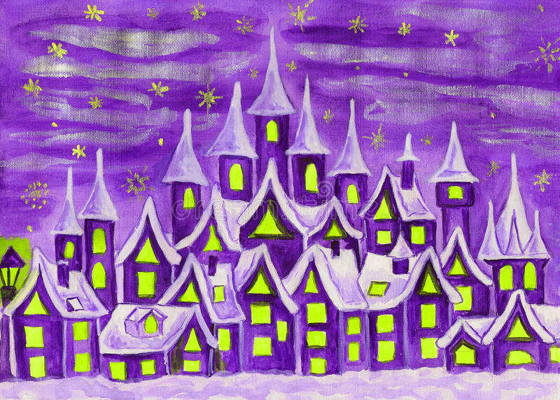 Dreamstown fiołek royalty ilustracja