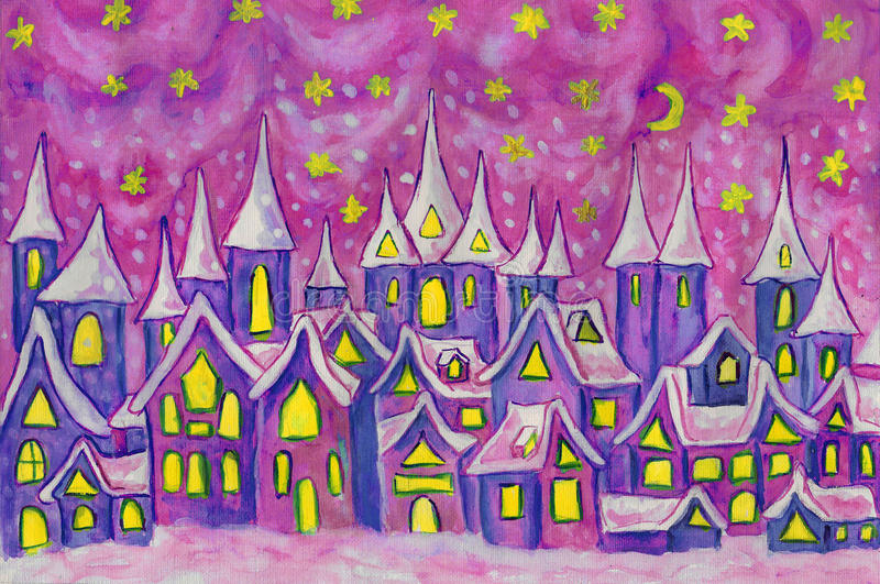 Dreamstown, pintando ilustração do vetor