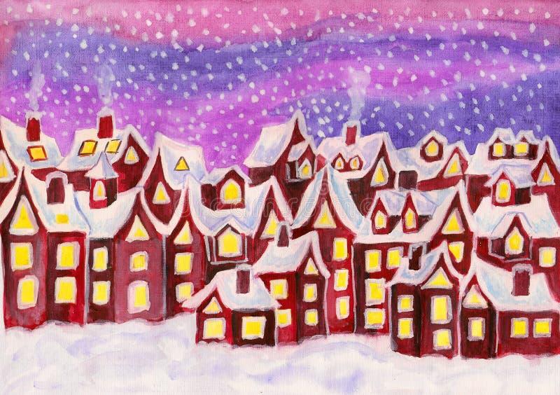 Dreamstown, w malinek menchii colours, maluje royalty ilustracja