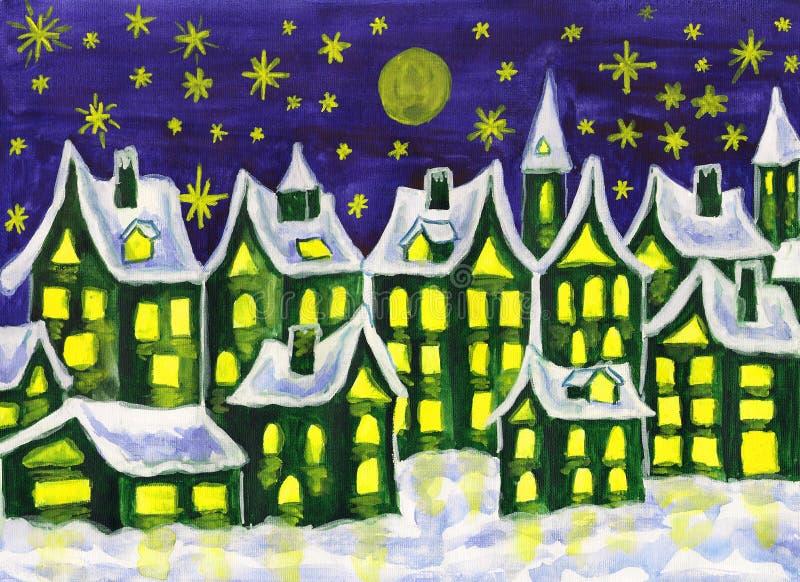 Dreamstown zieleń, maluje ilustracji