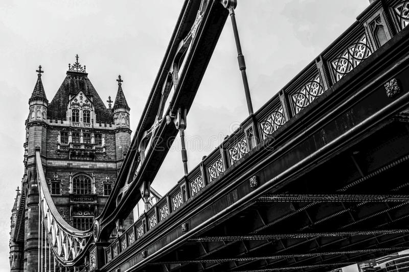 London Tower Bridge in Black and White royalty free stock photos