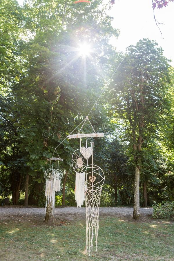 Dreamwatcher in einem Wald stockbild