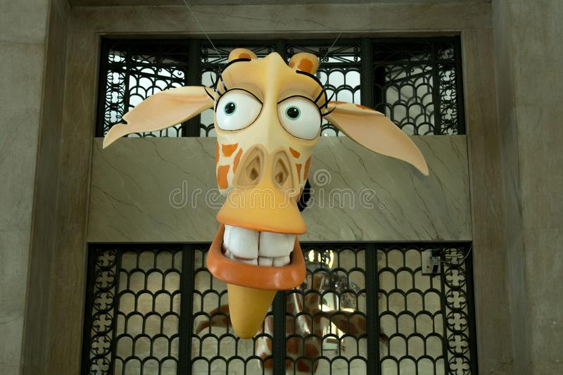 `DreamWorks Animation: The Exhibition` at CCBB - Centro Cultural Banco do Brasil, in downtown Rio. The building opened in 1906. Rio de Janeiro, Brazil royalty free stock image