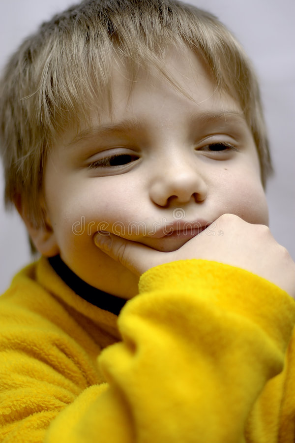 Dreamy Boy Stock Image