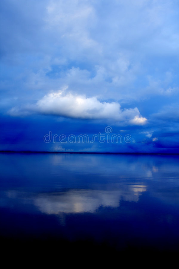 Dreamy cloud with reflection