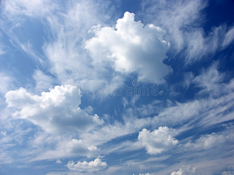 Dreamy clouds stock photo. Image of plummy, summer, fluffy ...
