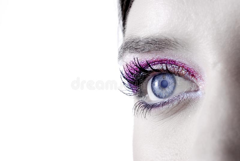 Dreamy eyes royalty free stock images