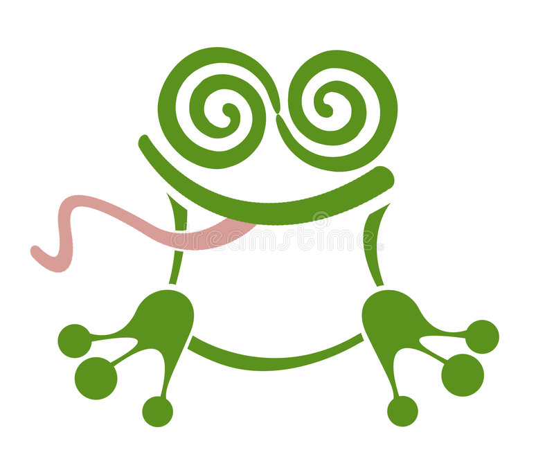 Dreamy Frog. An abstract cartoon frog featuring the Dreamstime logo