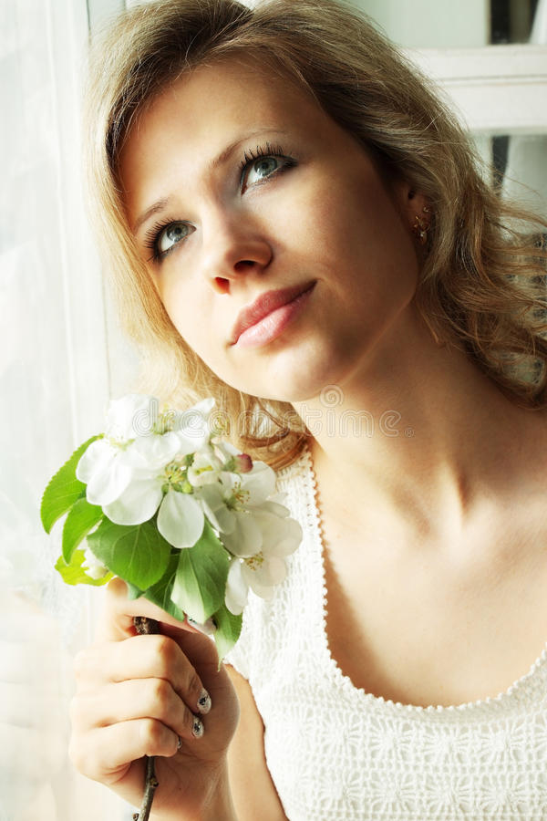 Download Dreamy Girl stock image. Image of fashion, cute, gift - 24444981