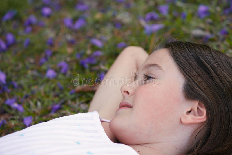 Dreamy girl royalty free stock images