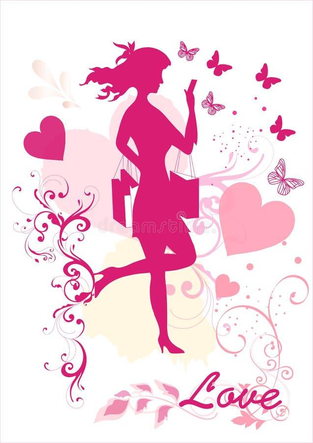 Download Dreamy Girl  Vector Silhouette Stock Vector - Illustration: 25977674