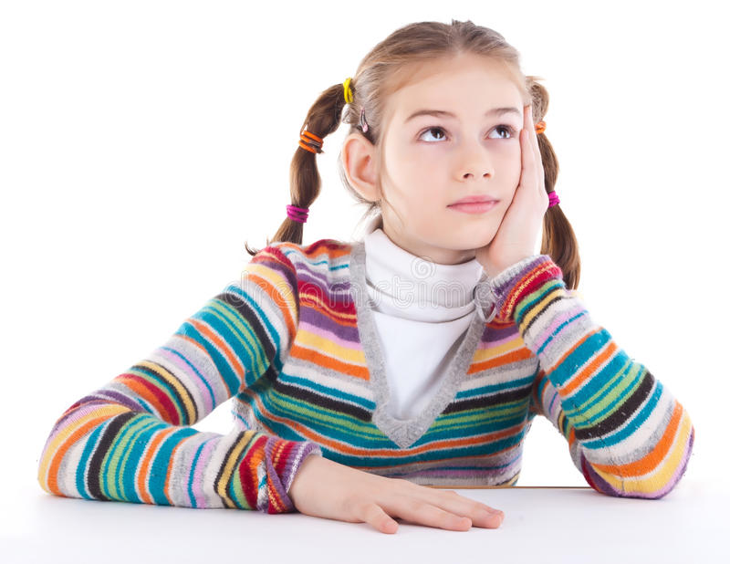 Download Dreamy little girl stock photo. Image of expression, female - 23916474