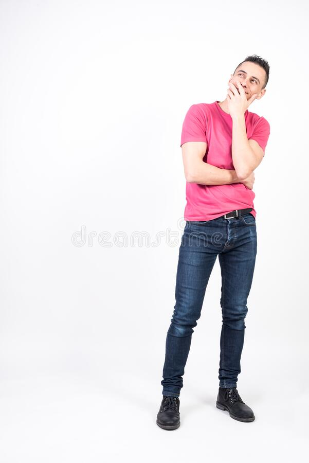 Dreamy man stock image. Image of natural, isolated ...