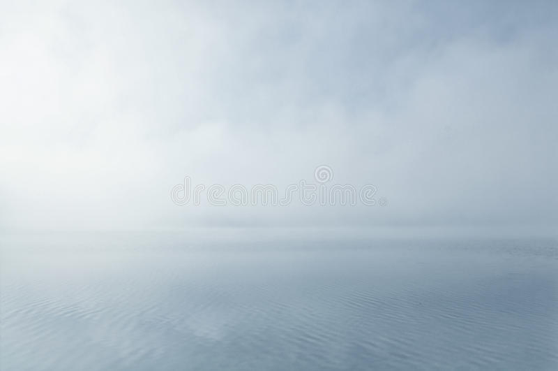 Dreamy misty water scenery stock photos
