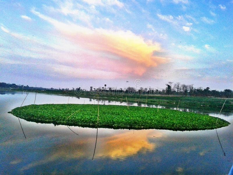 Dreamy Natural Imagery Of River. The following landscape is taken using mobile camera. Camera: 5 MP royalty free stock photo