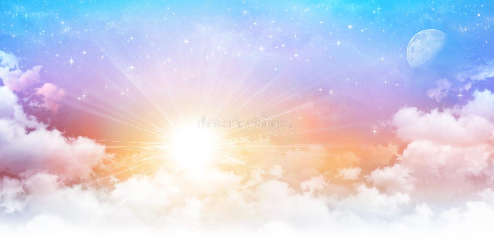 Dreamy sky scape royalty free stock photography