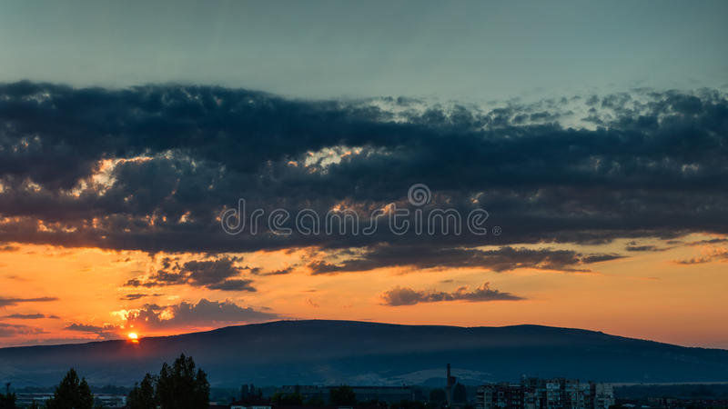 Dreamy sunrise stock photography
