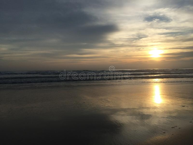 Dreamy sunset beach royalty free stock photography