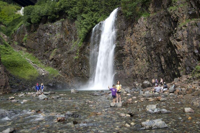 Dreamy waterfall stock image
