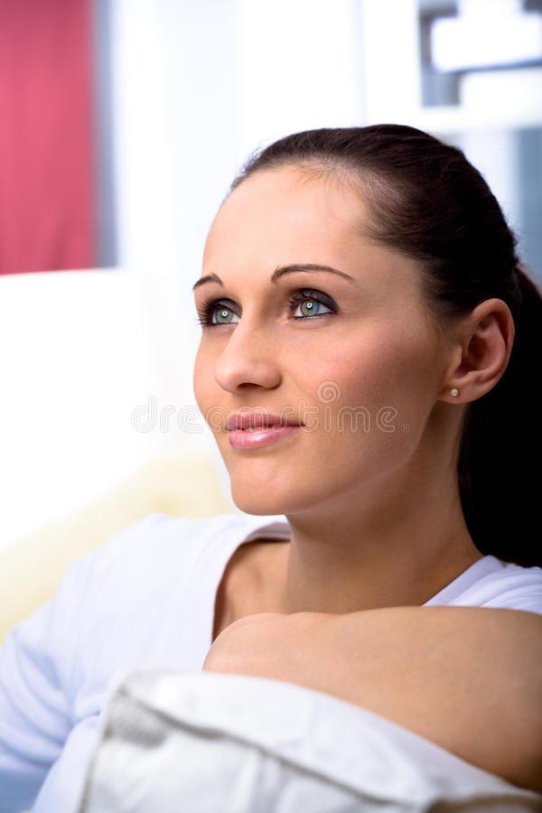 Download Dreamy woman stock image. Image of hope, home, relaxation - 11363721