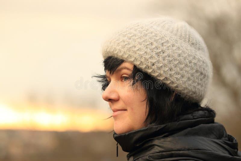 Dreamy woman stock image