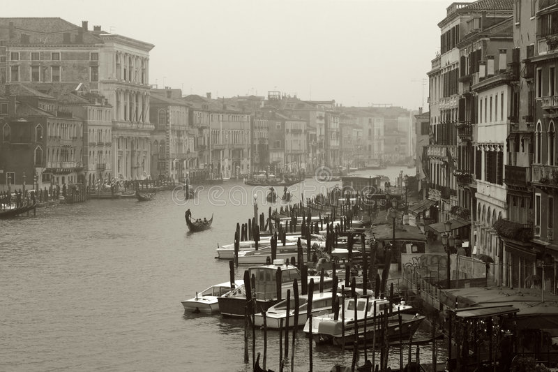 Dreary day in Venice stock photography